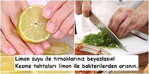 Salataların Vazgeçilmezi Limonu Muhteşem Lezzetler Dışında Kullanabileceğiniz 13 Farklı Yöntem
