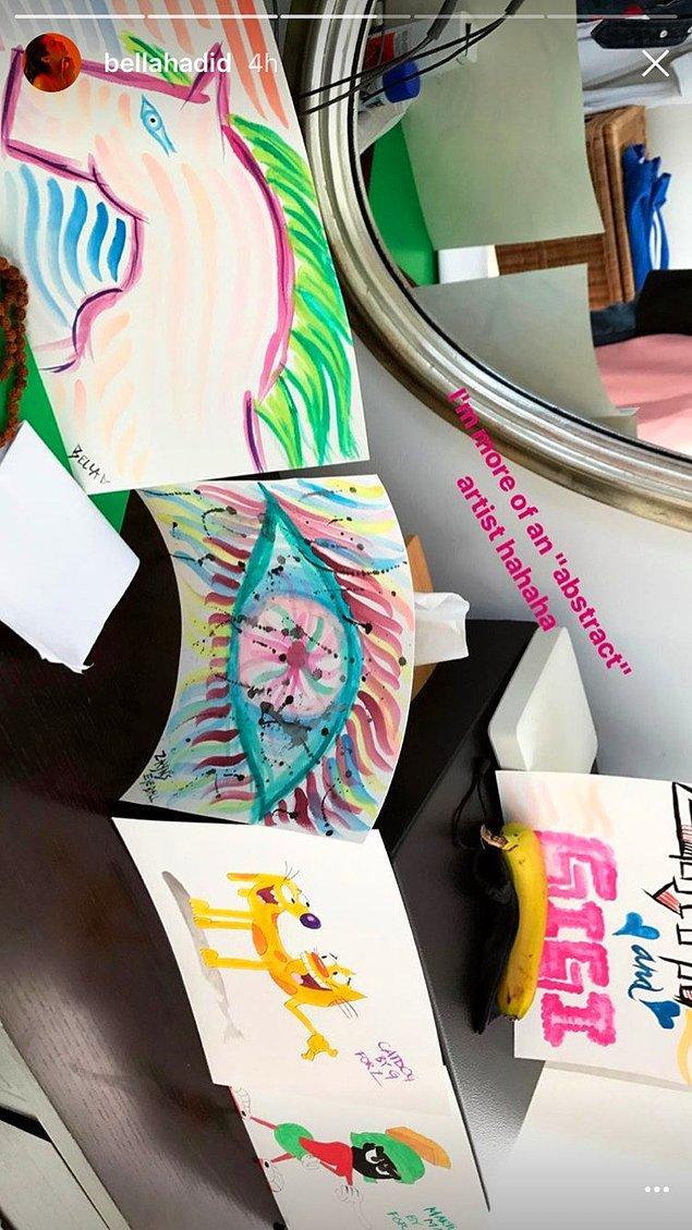 Kardeşi Bella Hadid'in eğlenceli çizimleriyle başlayan doğum günü, sevgilisi Zayn Malik'in sürprizleriyle devam etti.