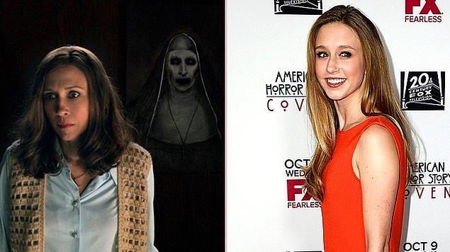 4. Vera Farmiga'nın kız kardeşi Taissa Farmiga, The Conjuring'in spin-off filmi The Nun'da genç rahibeyi canlandıracak.