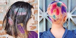 Gökkuşağı Renklerinin Kullanıldığı Saçları Daha da Havalı Hale Getirecek Mükemmel Trend