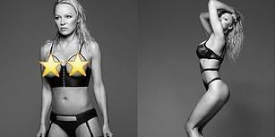 Bir Gecelik Markasının Yüzü Olan ve Herkesi Kalbinden Vuran Pamela Anderson'dan Cesur Pozlar