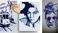 Her Birinin Yapımı Yaklaşık 100 Saat Süren, Hepsi Birbirinden Güzel Tükenmez Kalem Çizimleri