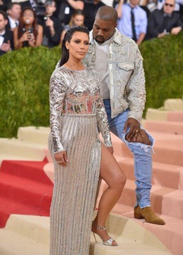 6. Kanye West ve Kim Kardashian
