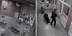 Amerika'da Gardiyanlar Mahkumların Elinden Zor Kurtuldu