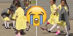 Sporcu Proteziyle Gittiği Okulda Arkadaşları Tarafından Karşılanan Kızın Duygu Yüklü Anları
