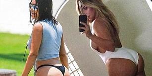 Kim Kardashian'a 100.000 Instagram Takipçisi Kaybettiren Photoshopsuz Kalça Fotoğrafı
