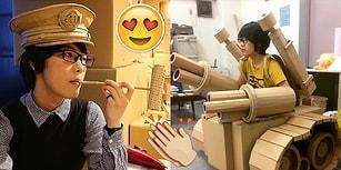 Boş Karton Kutularla Heykellere Bambaşka Bir Anlam Kazandıran Japon Sanatçıdan 26 Eser