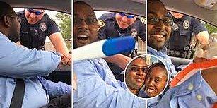 Eşine Hamile Olduğunu Söylemek İçin Polislerden Yardım Alan Kadından Müthiş Sürpriz