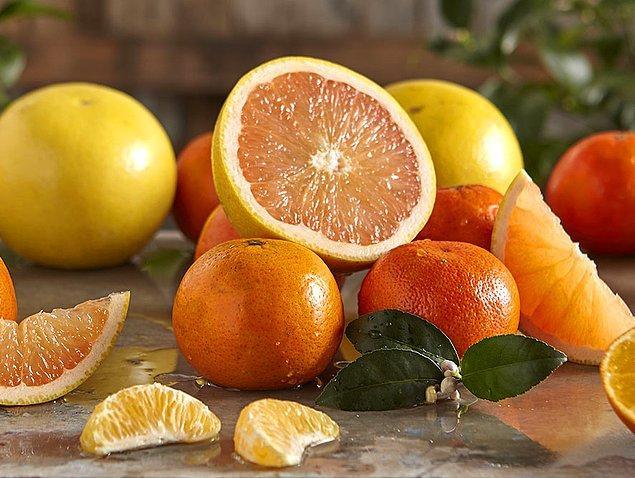 4. Portakal, mandalina ve greyfurt