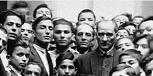 Atatürk'ün Daima Halkın İçerisinde Bir Lider Olduğunu Gösteren 15 Fotoğraf Karesi