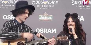 As Bayrakları As! Belaruslu Grup Eurovision Backstage'de Mor ve Ötesinden 'Deli' Şarkısını Söyledi