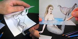 Üç Boyutlu Çizimleriyle Akılları Kağıt Gibi Katlayan İtalyan Sanatçının 23 Enfes Çalışması