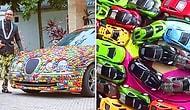 Yıllarca Biriktirdiği Minyatür Arabalarla Jaguar Aracının Üzerini Tamamen Kaplayan Çılgın!