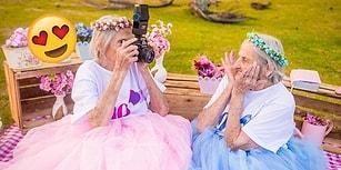 100. Yaşlarını Kutlayan İkizlerin Bloggerları Çatlatacak Güzellikteki Doğum Günü Fotoğrafları