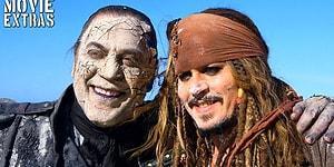 Johnny Depp Sen Ne Büyük Oyuncusun! Karayip Korsanları Filminden Kamera Arkası Görüntüleri