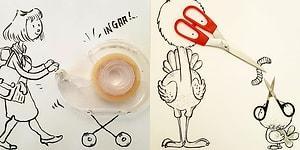 Günlük Objeleri Hayal Gücüyle Kombinleyen Türk İllüstratörden 19 Yaratıcı Çizim