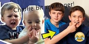 YouTube'un En Genç Fenomenleri Charlie ve Parmağını Isırdığı Abisinin Şimdiki Halleri!