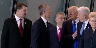 NATO Zirvesine Damga Vuran Hareket: Karadağ Başbakanı'nı İterek Öne Geçen Trump, Sosyal Medyanın Gündeminde