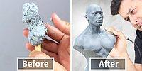 Timelapse Görüntülerle 22 Saatte Balmumundan Mini Heykel Yapan Adamın Enfes Çalışması