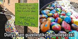 Çocuklarına Bir Taş Boyatarak Dünyayı Nasıl Güzelleştirebileceğini Anlatan Canım Öğretmen!