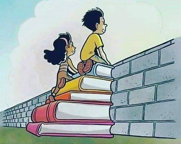 16. Okumak, bir duvarın arkasındaki güzellikleri görebilmektir.