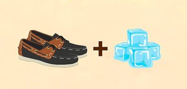 6. Daha geniş ayakkabılar için alternatif bir yol daha: Buz!