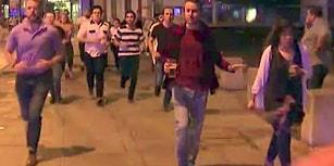 Londra Saldırısından Elinde Birasıyla Kaçan Adam