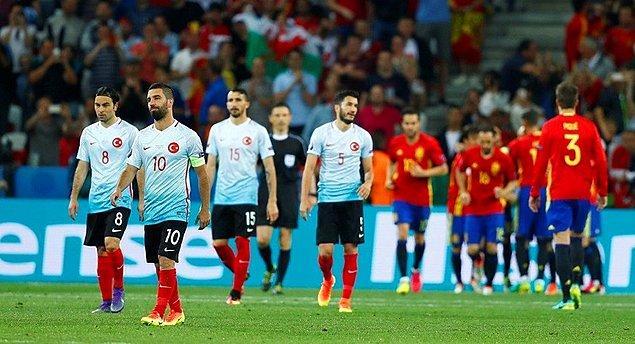 Mucizevi bir şekilde EURO 2016'ya katılma hakkı kazanıp 8 yıl sonra büyük bir turnuvada boy gösterme şansı yakalayan Türkiye A Milli Takımı, grupta aldığı 2 mağlubiyet 1 galibiyetle Avrupa'ya veda etmişti.