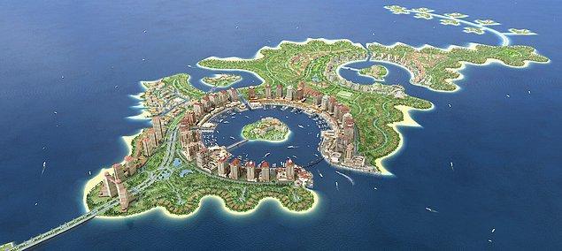 8. Diğer körfez ülkelerinde olduğu gibi Katar'ın da yapay ada projesi var.