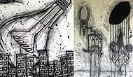 Narkolepsi Hastası Ressamın, Uyku Felci Krizlerini Yansıttığı Tüyler Ürperten Çizimleri!