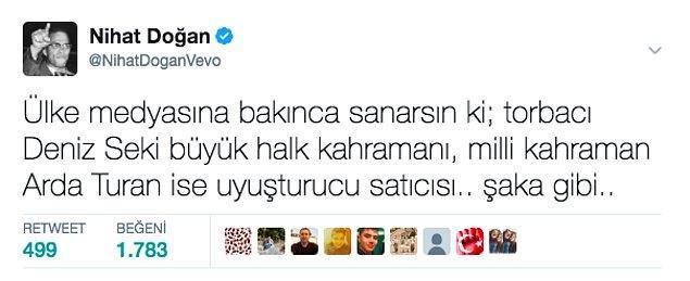10. Nihat Doğan'ın bu ağır ithamlarla dolu tweeti ise sosyal medyada büyük tepki gördü.