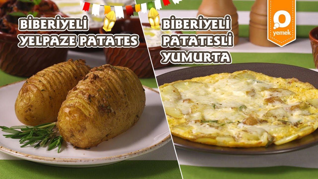 İftar ve Sahuru Düşünmeye Son Biberiyeli Yelpaze Patates ve Biberiyeli Patatesli Omlet Nasıl Yapılır 2