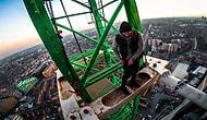 Yüzlerce Metre Yükseklikteki Vince Tırmanan Çılgın İkilinin Gözünden Londra