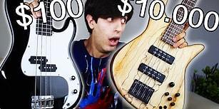 Mükemmel Karşılaştırma: 100, 700 ve 10.000 Dolarlık Bas Gitarlardan Hangisi Size Göre?