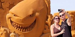 Fantastik Çizgi ve Kurgu Kahramanların Kumdan Heykellere Dönüştüğü 'Disney Sand Magic' Festivali