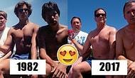 35 Yıl Boyunca Her 5 Yılda Bir Araya Gelerek Aynı Fotoğrafı Çeken Arkadaşlardan Sevimli Kareler