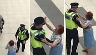 İnsanlığa İnanç Tazelendi! Alışveriş Merkezinde Yaşlı Kadınla Dans Eden Polis Memuru