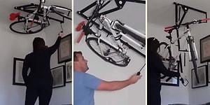 Bisikleti Koyacak Yer Bulamayanlara Muhteşem Çözüm