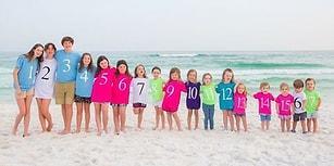 Aile Sınır Tanımaz! 17 Kuzenin Doğum Sırasına Göre Dizilip Renklerle Kodlandırılmış Fotoğrafı