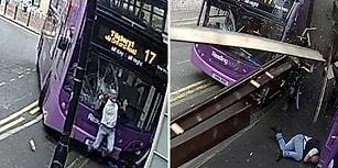 Otobüs Çarptıktan Sonra Hiçbir Şey Olmamış Gibi Kalkıp Bara Giren Adam