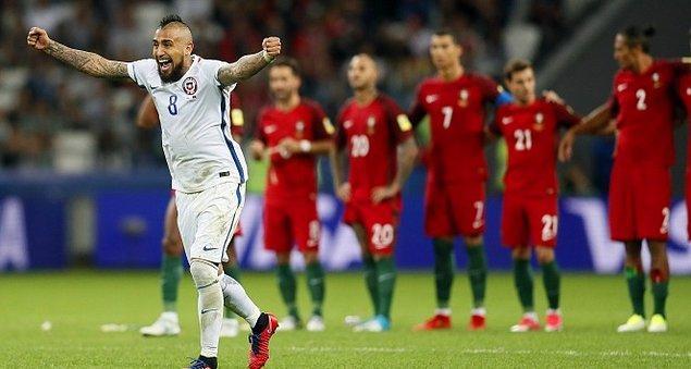 Yarı finalde ilk mücadele Portekiz ile Şili arasındaydı. Dün oynanan maçın normal süresi 0-0 bitti. Seri penaltı atışlarında 3-0 kazanan Şili adını finale yazdırdı.