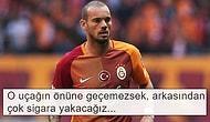 Galatasaraylı Taraftarlardan Başarılı Futbolcuya Sonsuz Destek: 'Sneijder Dursun Sen Durma'