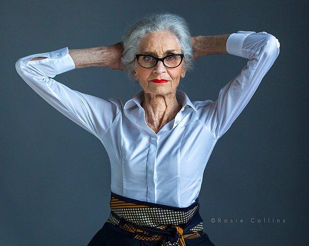 10. Dünyanın en yaşlı mankeni olarak bilinen ve ölene kadar da bu mesleği devam ettirmek isteyen 89 yaşındaki İngiliz model Daphne Selfe.