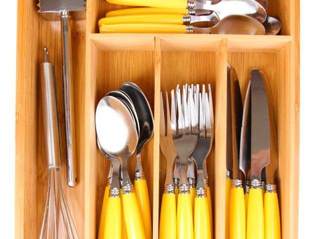 6. Mutfak çekmecelerinin şu anki durumunu bize biraz özetlesene!