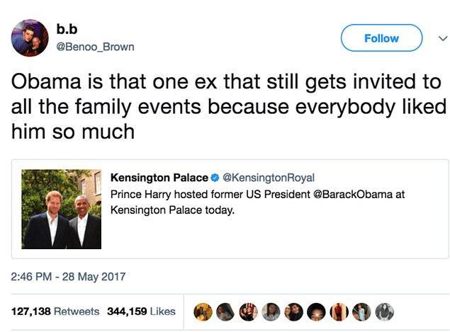 """12. """"Obama herkes onu çok sevdiği için aile toplanmalarına davet edilen eski sevgili gibi."""""""