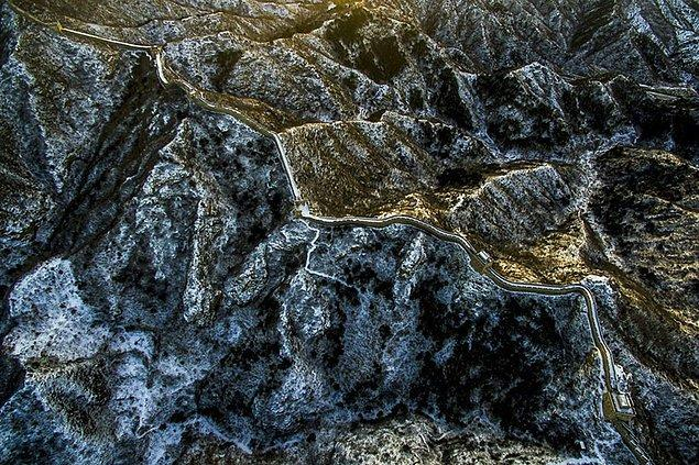 21. Gün Batımında Karla Kaplı Çin Seddi, Çin (Doğa, Finalist)