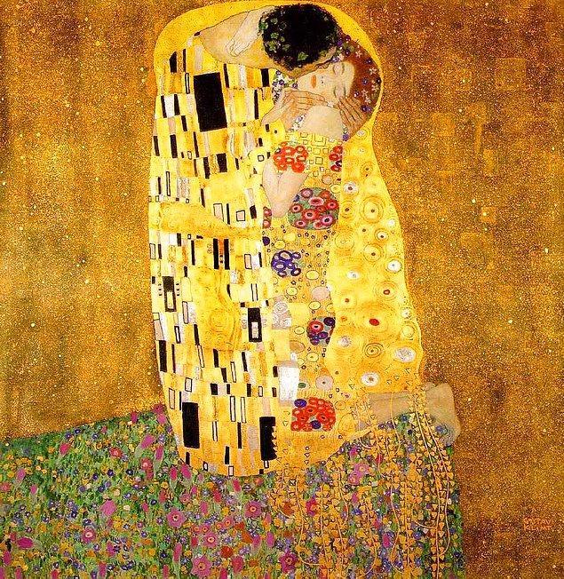 "13. Gustav Klimt'in meşhur ""Öpücük"" tablosu"