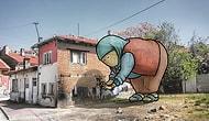 """Eskişehir'i """"Lilliputlar"""" Bastı! Sokakları Eğlenceli Karakterlerle Dolduran Sanatçıdan 17 Enfes Çizim"""