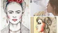 Ruju ve Dudaklarıyla Resim Yapan Sanatçıdan Birbirinden Güzel 20 Çalışma