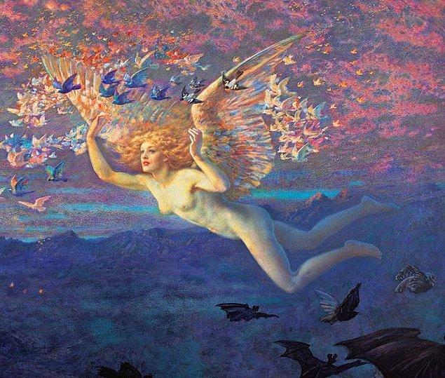 """14. Lady Gaga - """"Sabahın Kanatlarında"""" Edward Robert Hughes, 1884"""